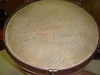 Барабан с автографом Гагарина
